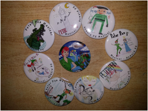 Peter Pan Buttons