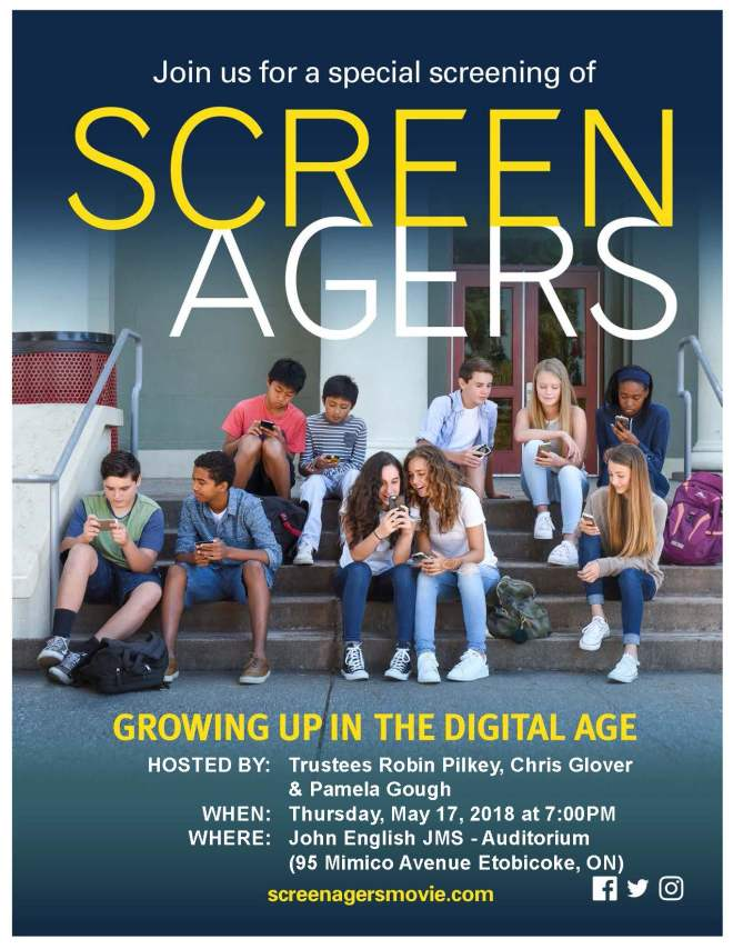 2018_05_17 Joint Ward 2, 3 and 7 Screenagers Poster R. Pilkey